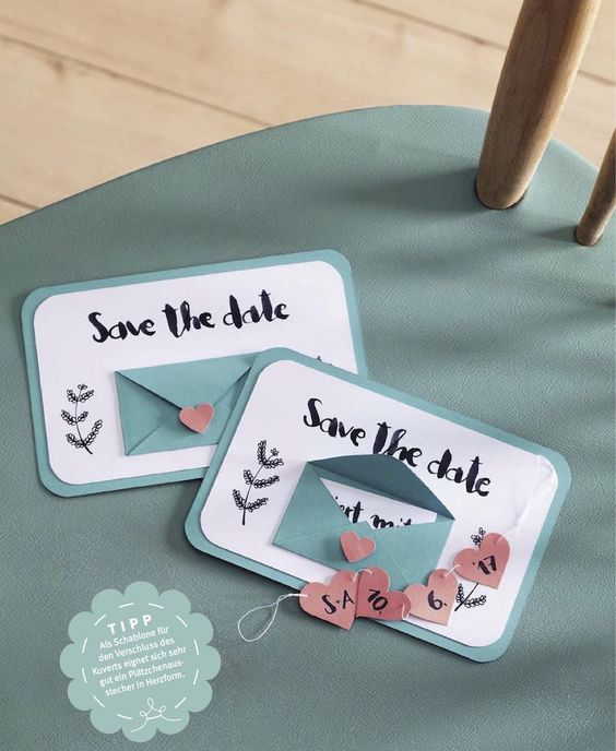 Save the date diy