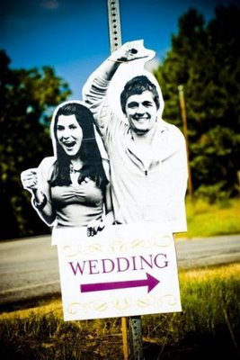 cartel divertido wedding sign