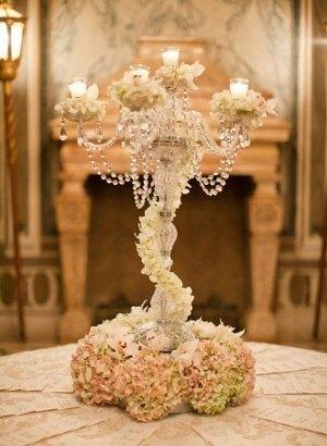 decoracion de boda con velas, centro de mesa