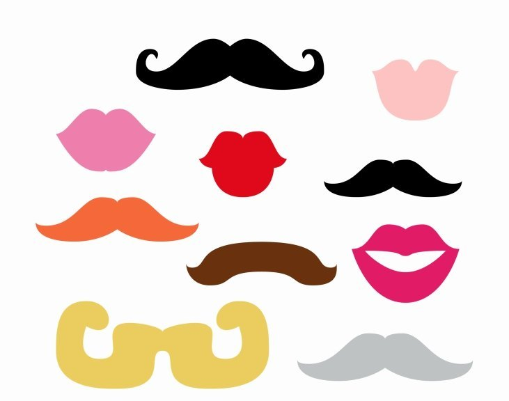 labios y bigotes para photocall