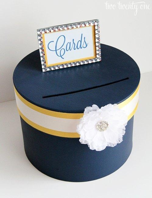 how to make wedding card - DIY Tarta Nupcial para Guardar los Sobres