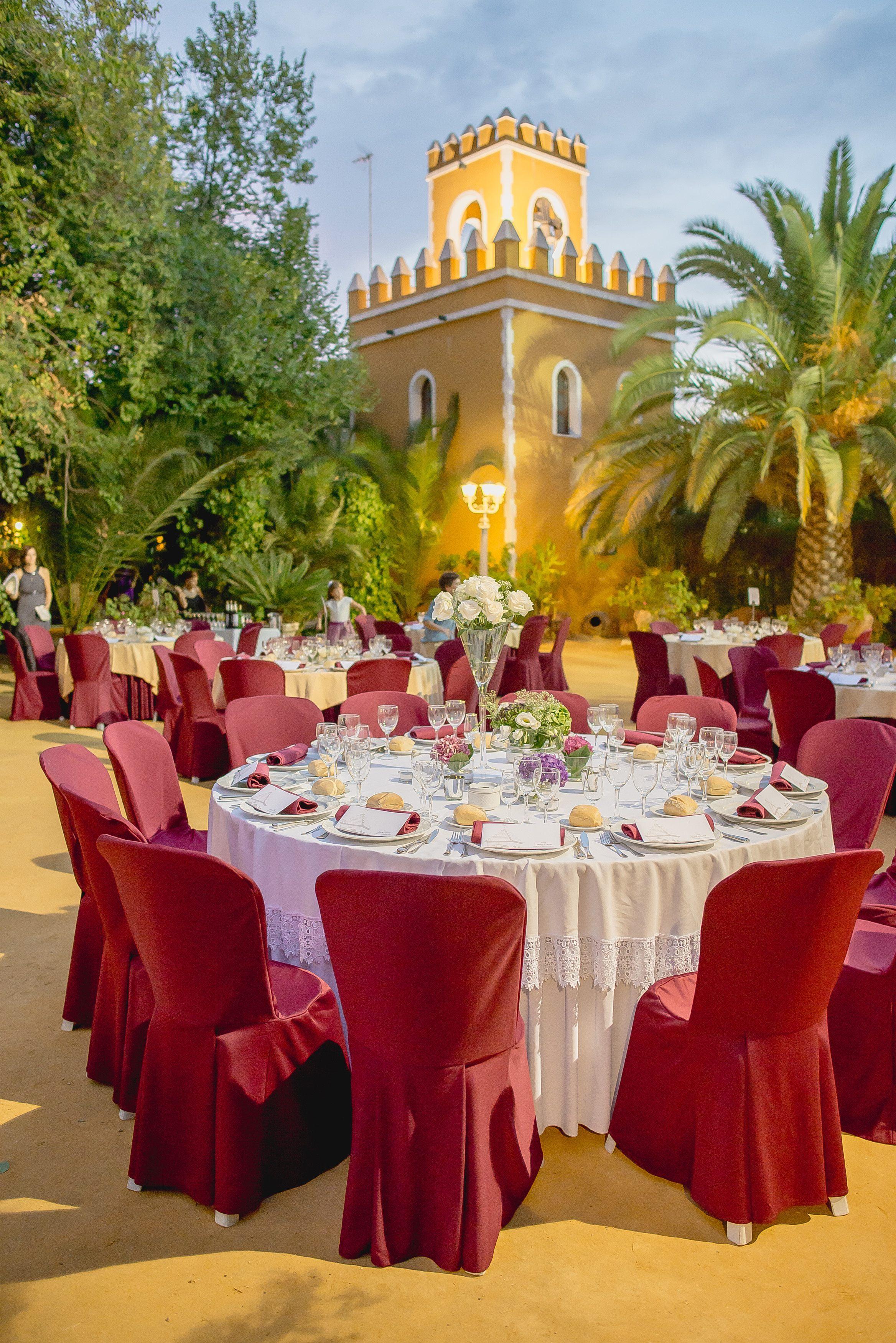 cena boda aire libre