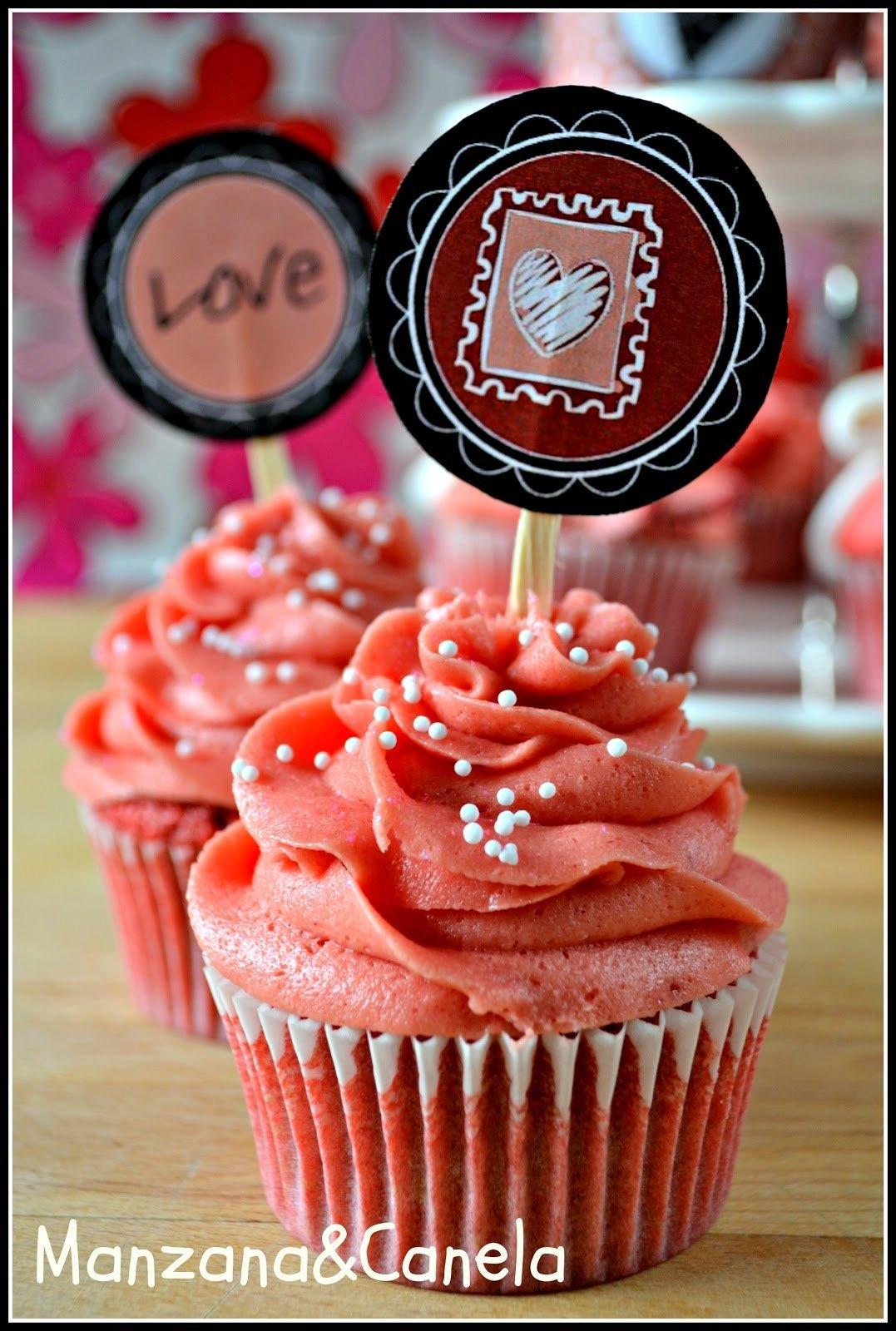 304b4 sanvalentin1 - Pon tu Toque personal al CandyBar: Recetas de Cupcakes