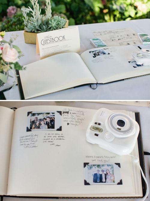 libro de firmas con polaroid