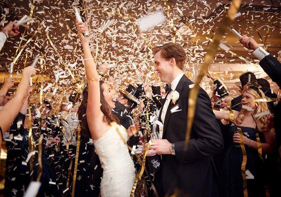 Confetti para boda en nochevieja