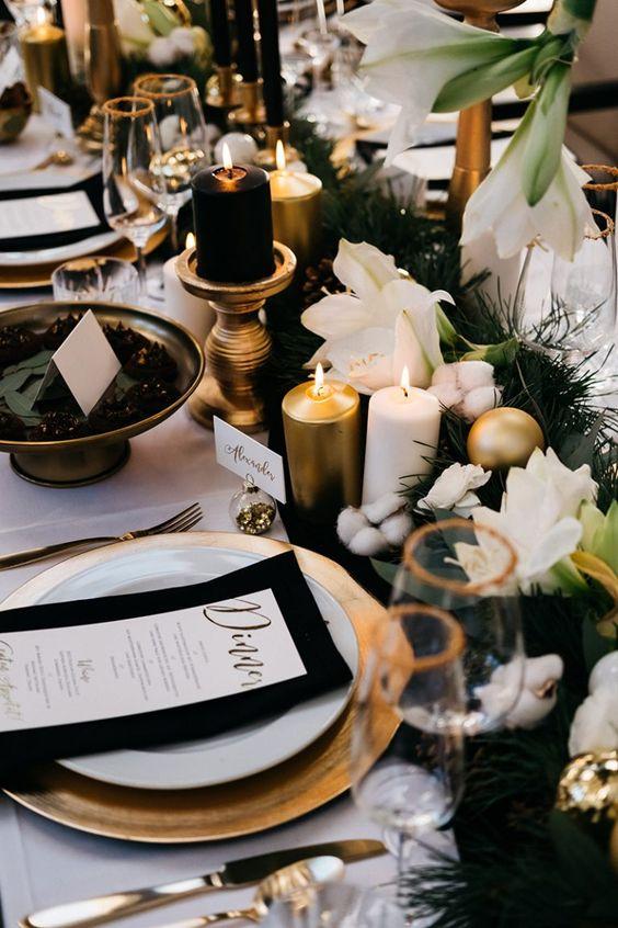 como decorar mesa para boda en nochevieja - Cómo Organizar una Boda en Nochevieja