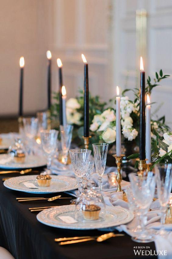 decoracion de mesa para boda en nochevieja - Cómo Organizar una Boda en Nochevieja