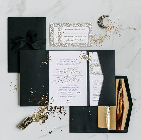 invitaciones para boda en nochevieja
