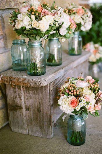 Decorar boda con tarros de cristal