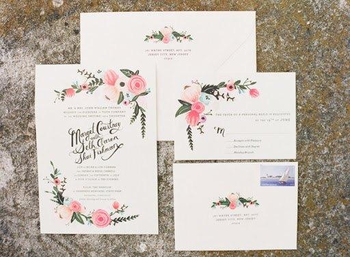 Invitacion de boda floral riffle and co - ¿Como Elegir las Invitaciones de Boda?