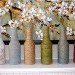 yarn wrapped vases - Decora tu Boda con Jarrones de Cristal