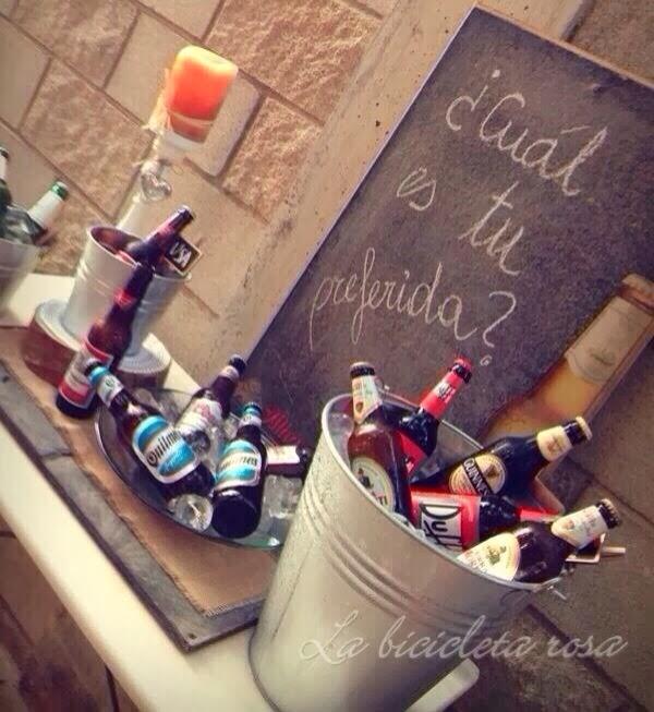 barra libre de cerveza en boda