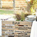 Cartel con el menu de boda