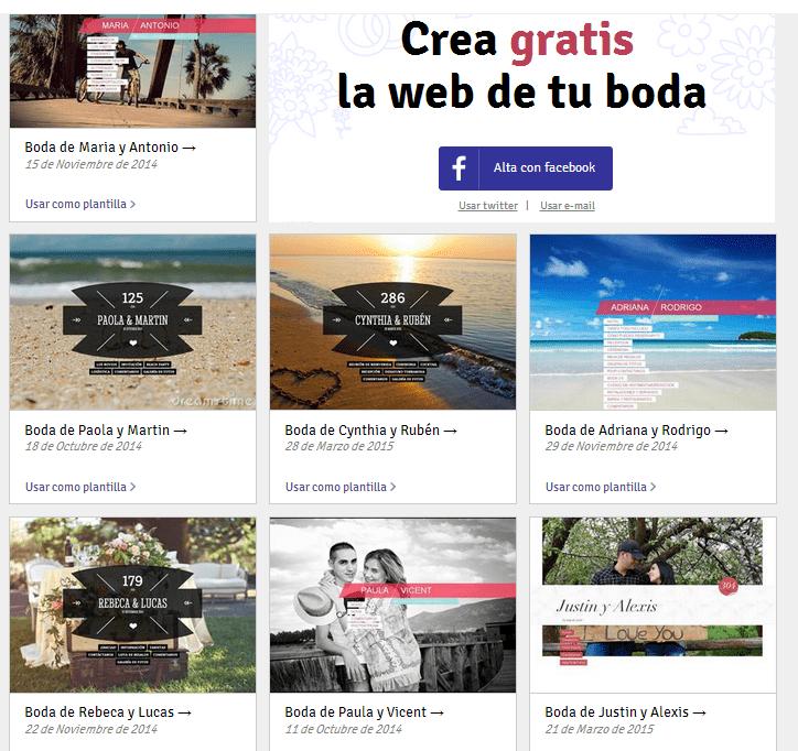 Crea la web de tu boda gratis diario de una novia Crear website