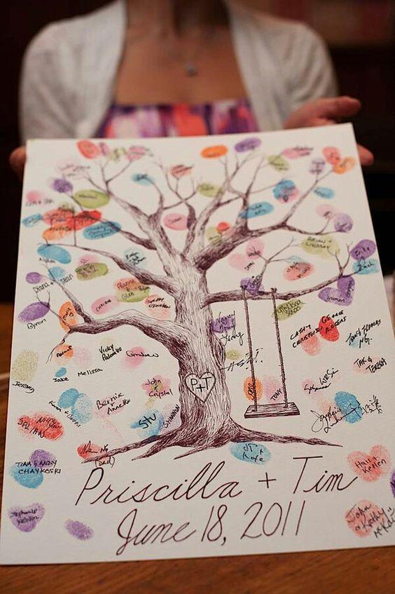 arbol de huellas - libro de firmas