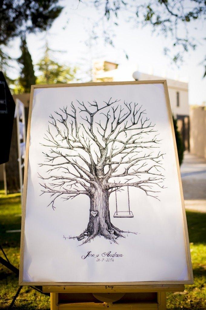 fingerprints tree for guests