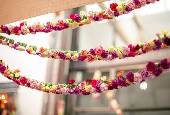 Ideas para decorar tu boda con guirnaldas de flores - Decoracion de guirnaldas ...