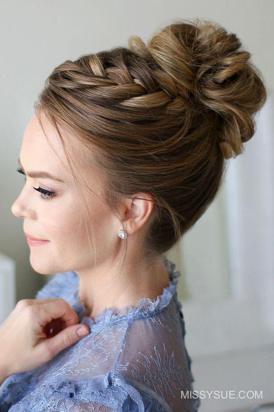 recogidos altos para bodas 5 - Peinados y Recogidos para Bodas: Tipos de Recogidos
