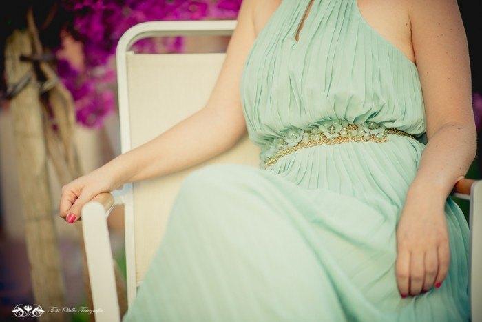 Look de invitada vestido mint sheinside