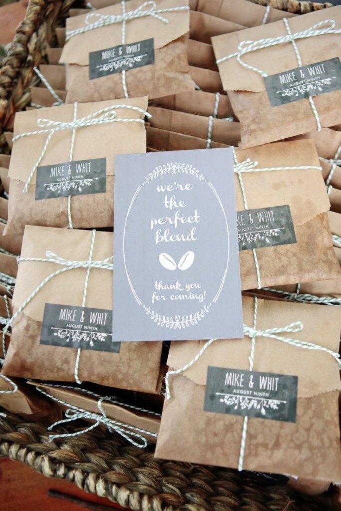 bolsas de papel kraft para envolver los regalos de boda