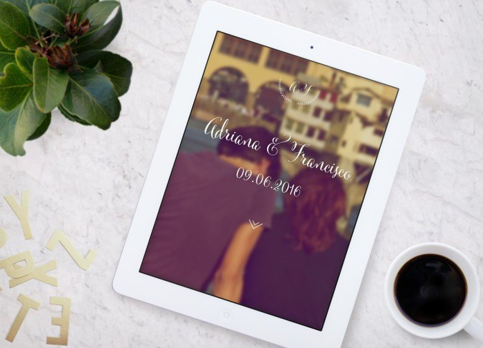 web online para invitados de boda