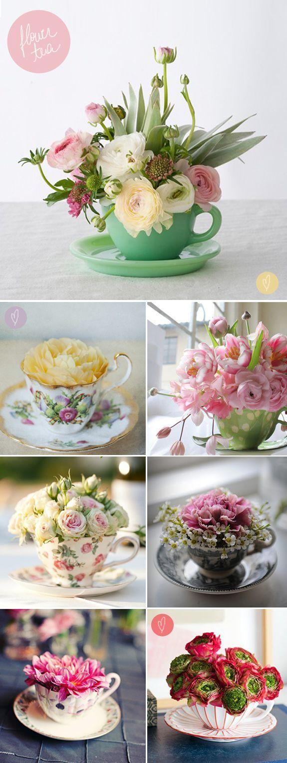 decorar tu boda con porcelana tazas centros de mesa