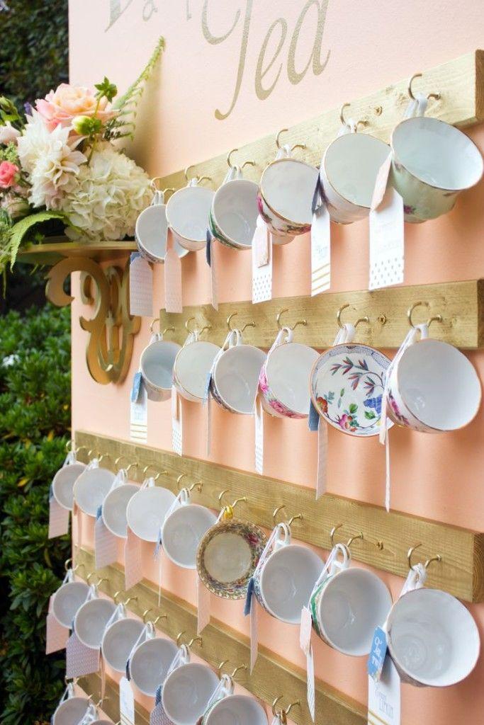 decorar tu boda con porcelana tazas seating