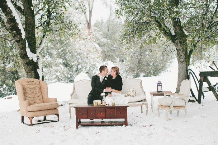 Boda en la Nieve sofa vintage