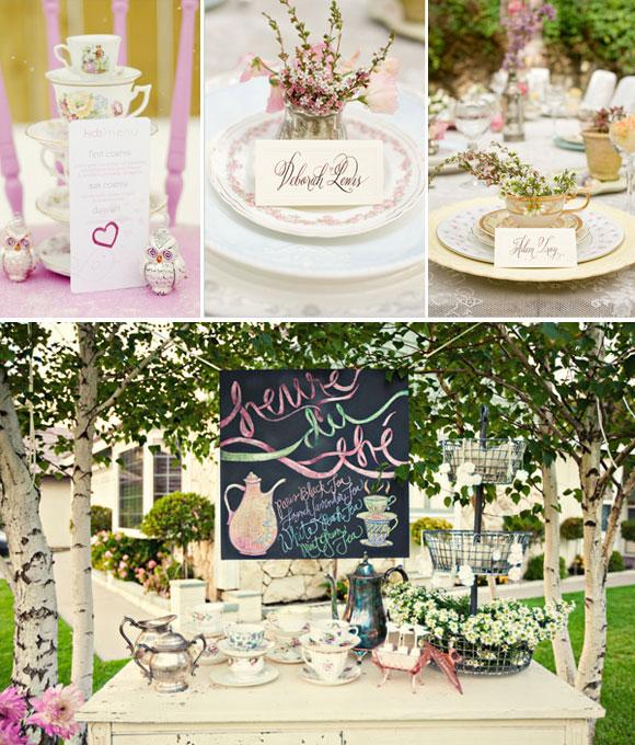 Decorar tu boda con teteras y flores rincon