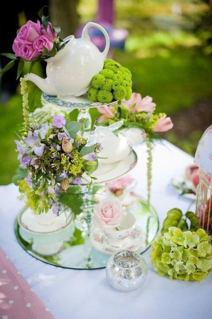 decorar tu boda con porcelana teteras