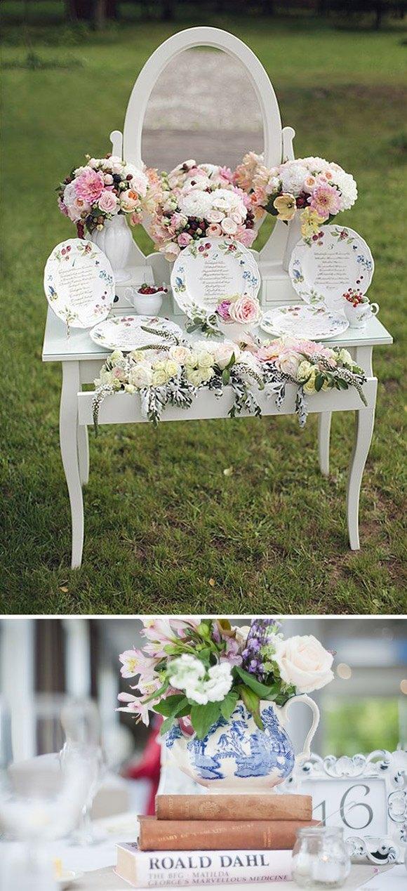 Como decorar tu boda con porcelana diario de una novia - Decoracion para bodas vintage ...