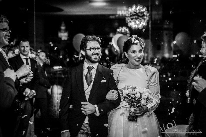 Boda Restaurante Abades Triana casados