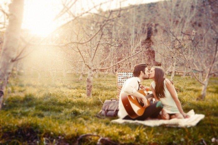 preboda con guitarra y picnic