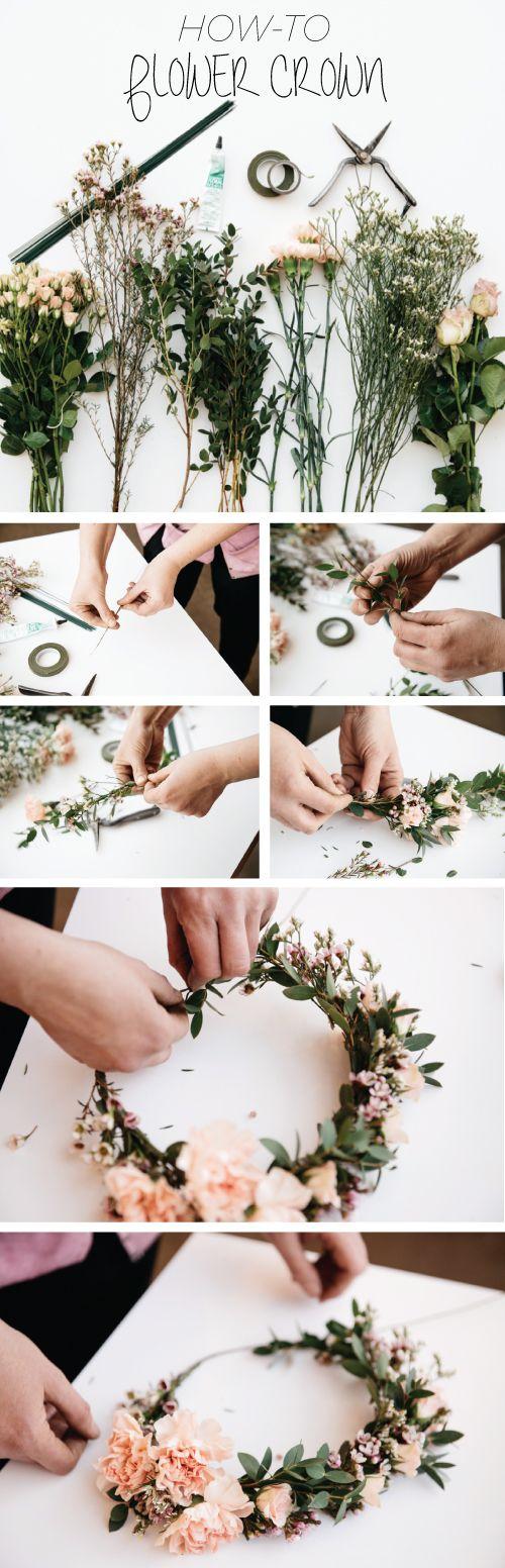 Como hacer una corona de flores frescas