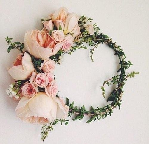 Corona de flores rosas - Como Hacer una Corona de Flores DIY