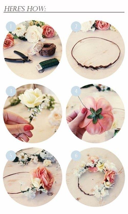 Como Hacer Una Corona De Flores DIY Diario Novia
