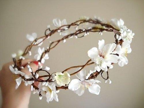corona de flores con orquidias - Como Hacer una Corona de Flores DIY