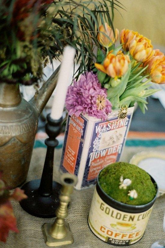 decoración de bodas rusticas cajas vintage