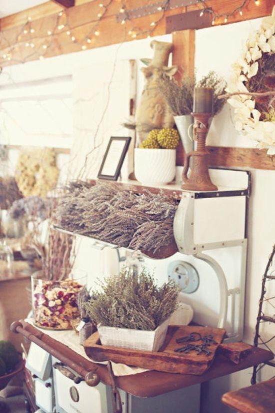 decoración de bodas rusticas cocina antigua