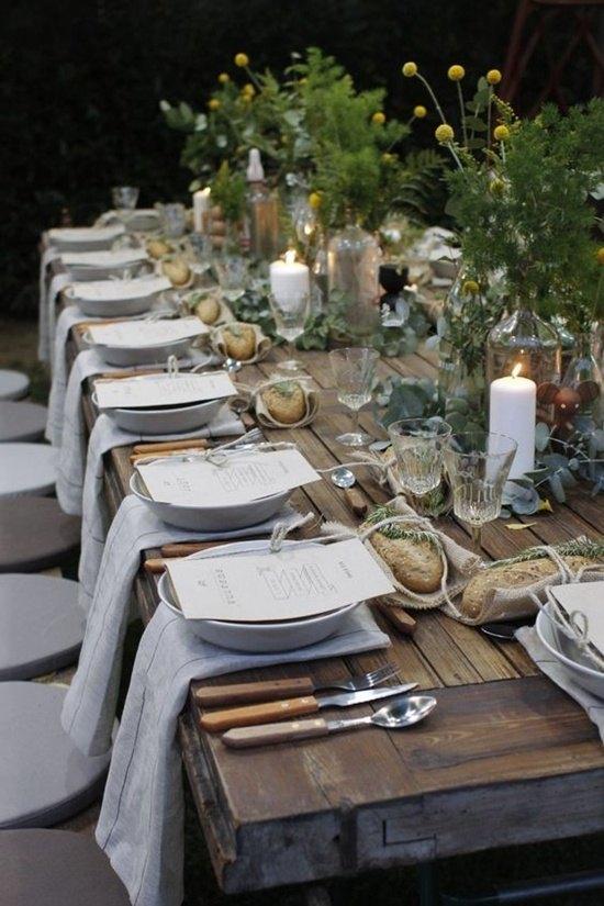 decoración de bodas rusticas mesa puesta