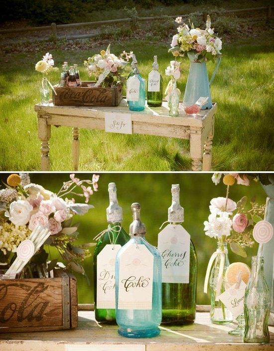 decoración de bodas rusticas mesas