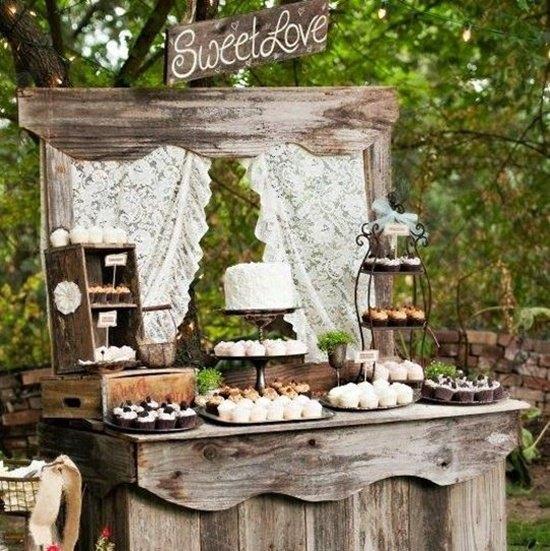 decoración de bodas rusticas mueble de madera antigua - Ideas para la Decoración de Bodas Rústicas