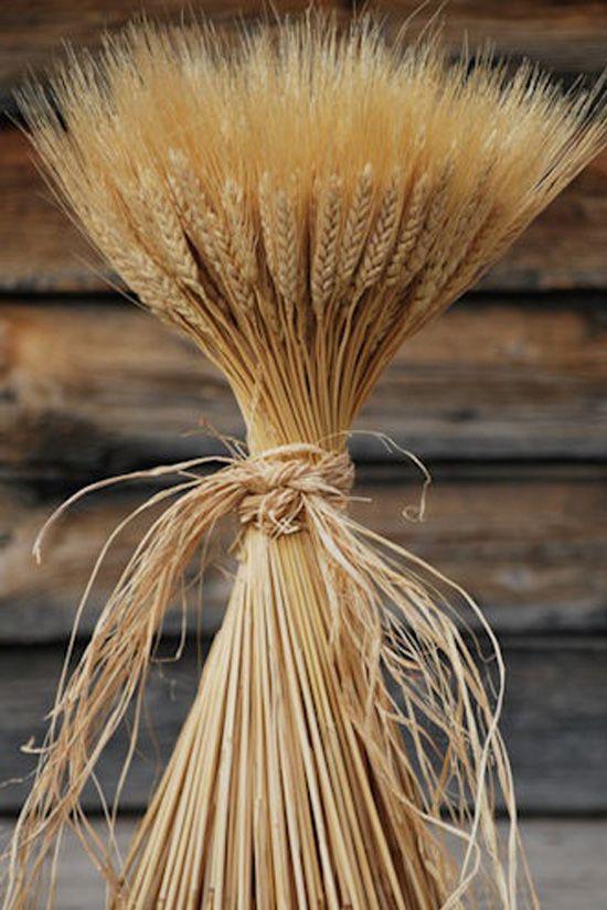 decoración de bodas rusticas ramo de trigo - Ideas para la Decoración de Bodas Rústicas