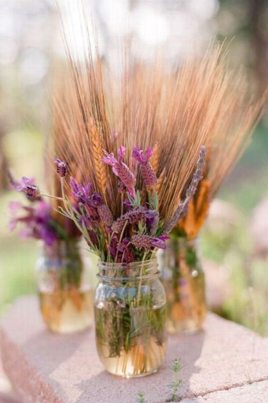 decoración de bodas rusticas trigo