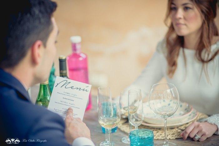 Boda de destino en Toscana comida menu - Editorial con aires a la toscana