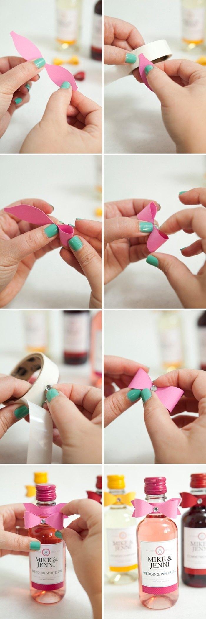 Instrucciones lazo botellas de licores para bodas