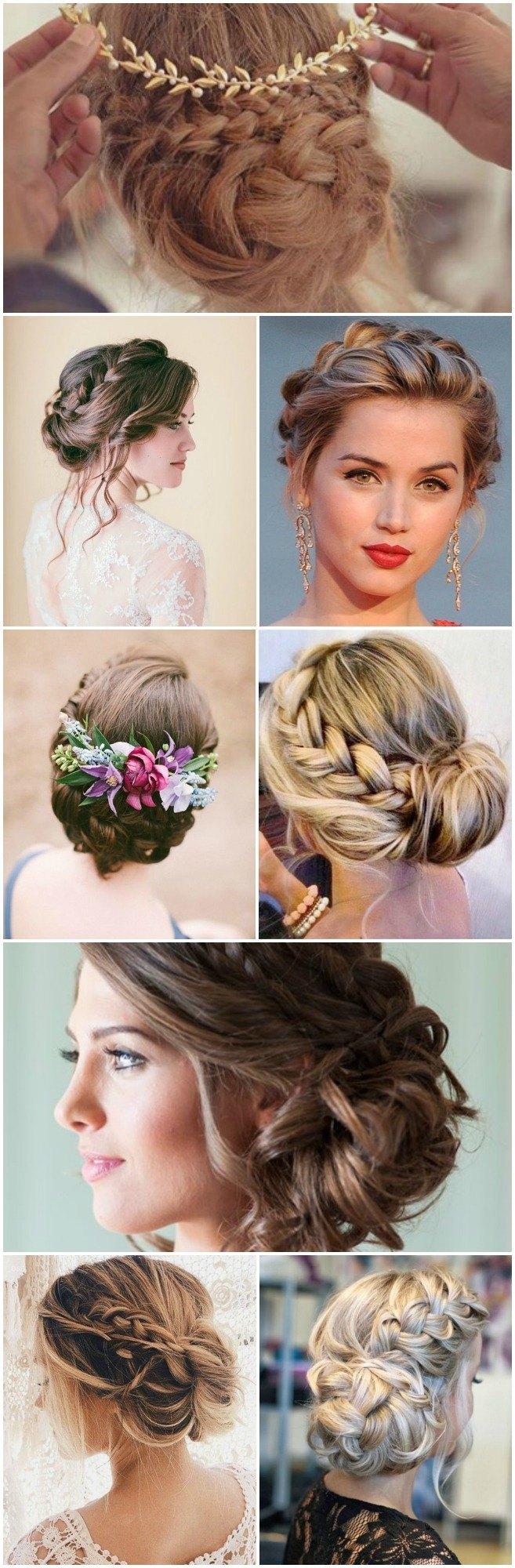 Recogidos bajos para bodas novias e invitadas diario - Peinados recogidos con trenzas ...