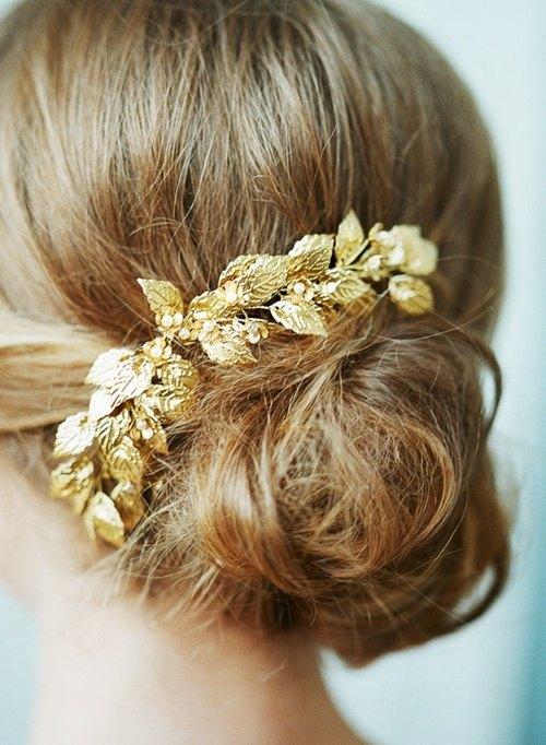 tocado tiara de oro