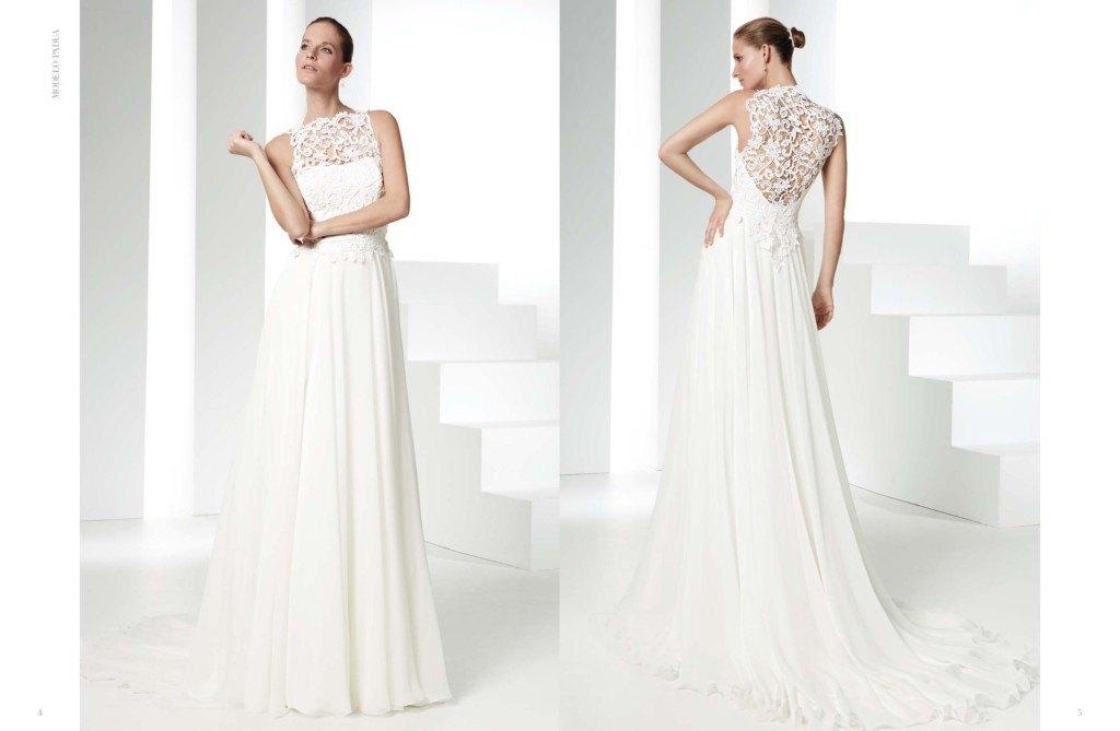 traje de novia sencillo y elegante raimon bundo