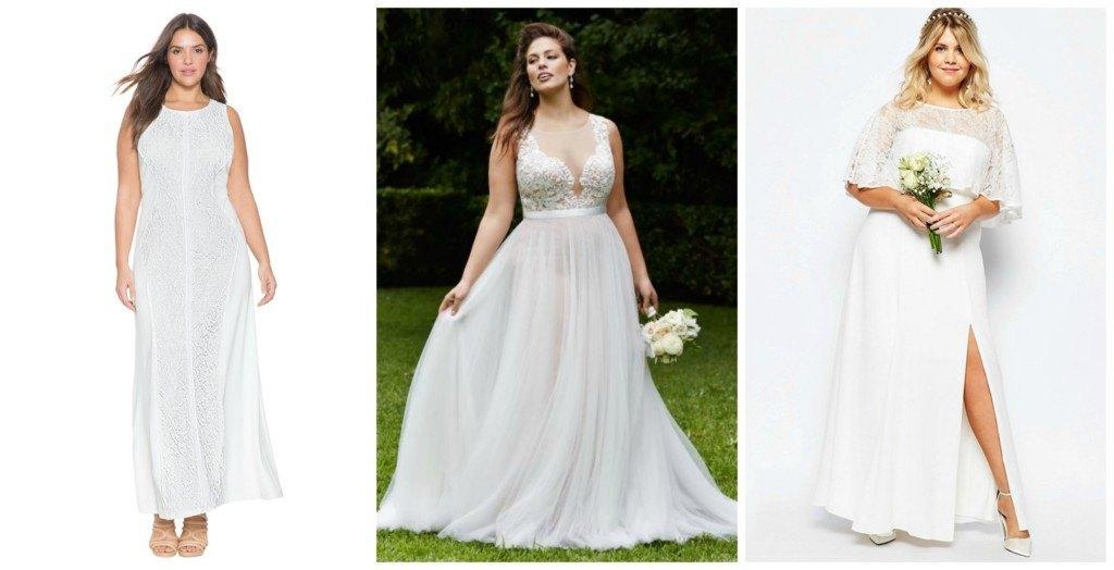 vestidos de novia sencillos para gorditas